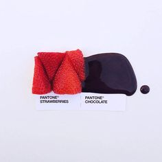 Photographs of Food Paired as Pantone Color Swatches