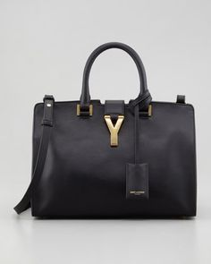 Y Ligne Cuir Gras Mini Bag, Black by Saint Laurent at Neiman Marcus.