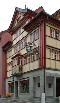 Orașul Appenzell, capitala cantonului Appenzell Innerrhoden în Elveția
