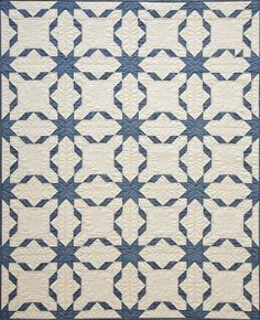 "Blue Ribbon quilt, 48 x 60"", pattern by Denise Sheehan 
