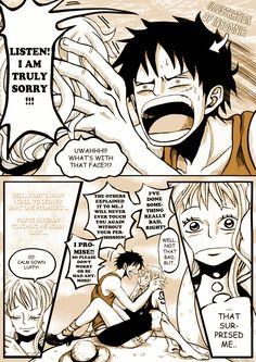 Luffy x Nami One Piece Funny, One Piece Comic, One Piece Ship, One Piece Fanart, One Piece Anime, Zoro And Robin, Luffy X Nami, Fairy Tail Natsu And Lucy, Couple