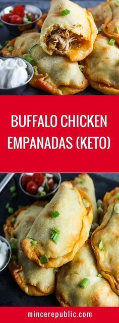 Buffalo Chicken Empandas Recipe (Keto) | #keto #lowcarb #gameday | mincerepublic.com