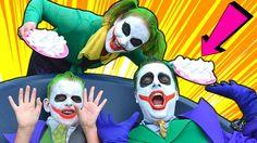 Joker Girl vs Bad Baby Joker! Frozen Elsa Joker Boy & Joker Messy Pie Pr...
