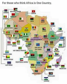 African countries and flags on map Geography Map, World Geography, Africa Flag, Countries And Flags, African Countries Map, Flags Of The World, African History, Sierra Leone, Congo