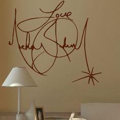 Grand Michael Jackson Signature murale géante par Largewallstickers
