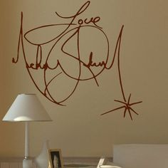 Large Michael Jackson Signature Wall Mural by Largewallstickers, £14.99