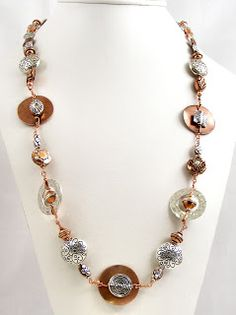 Sweet Freedom Designs: Custom Mixed Metals Wirework Necklace