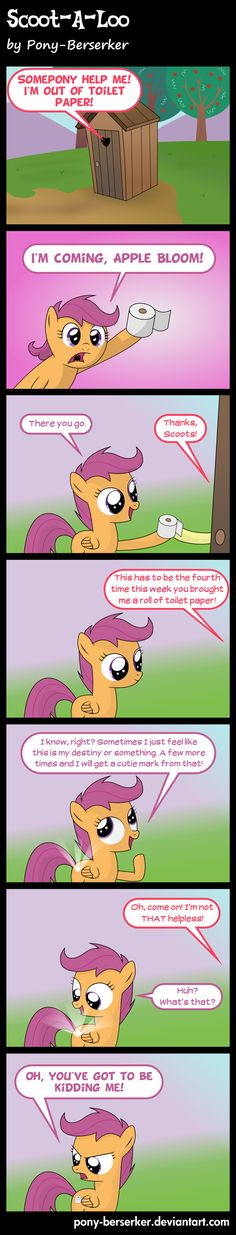 Scoot-A-Loo by *Pony-Berserker on deviantART | MLP FiM My Little Pony Friendship is Magic