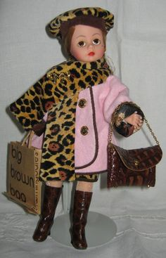 MADAME Alexander Doll Cissette Bloomingdales Big Brown Bag 10 inches tall.