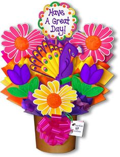 Decorated Cookies Gift | Have A Great Day Hand Decorated Cookie Bouquet Gift Basket Peacock ...