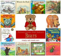 Teddy bear books for a teddy bear picnic perhaps? From Ready Set Read.