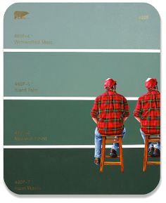 460F - Self Portrait I + II with Flannel Shirt