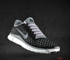 sneakers for cheap 5a009 871d4  49.97 Cheapest Mens Nike Free 3.0 V4 Black Reflect Silver Cool Grey Light  Violet Lace Shoes