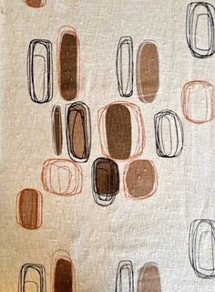 Sensational Abstract Eames Era Fabric //Cotton Blend Yardage //Vintage New Never Used// By the Yard
