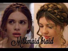 Lydia's milkmaid braid hair tutorial - YouTube