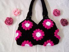 Crocheted Purse/ Beautiful Crochet Handbag. $59.00, via Etsy.