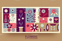 Flowers abstract background by Kit8.net on @creativemarket