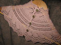 Ocean Wave Lace Collar Neckwarmer Knitting Pattern by PatriciaWake