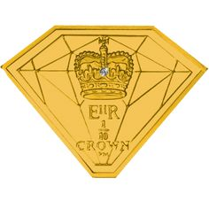 Isle of Man 2012 - Diamond Shaped Coin - Crown Fine Gold Coin with Diamond Bullion Coins, Gold Bullion, Gold And Silver Coins, Isle Of Man, Rare Coins, Diamond Shapes, Crown, Postcards, United Kingdom