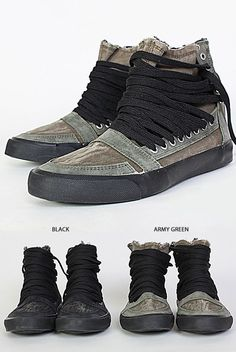 Shoes :: Street-edge Super Long Lace High-Shoes 55 - Mens Fashion Clothing For An Attractive Guy Look