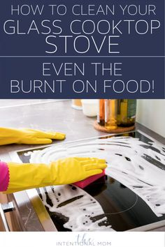 Cleaning your glass stove top couldnt be easier! Using things you already have, no expensive cleaners or scrubbing is needed. Have a clean stove in no time!