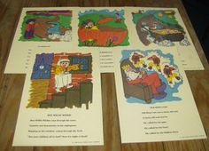 5 Ideal School Supply Nursery Rhymes Cards by aTouchOfEngland, $15.00