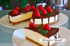 Cheesecake cu ciocolata si zmeura pregatit de Ramona Dascalu Cheesecake, Desserts, Recipes, Tailgate Desserts, Deserts, Cheesecakes, Recipies, Postres, Dessert