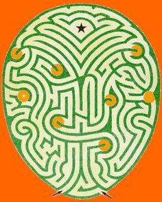 Galerie der Labyrinthe  The Creation Maze at Varmlans Saby in Sweden, deigned by Adrian Fisher.