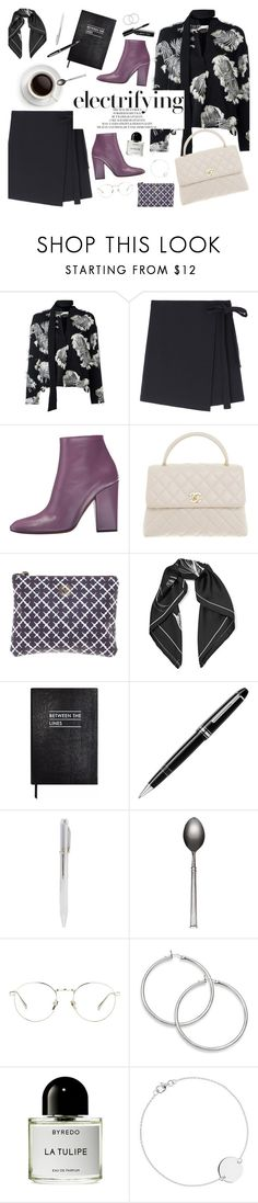 """Electrifying"" by amalieknygberg ❤ liked on Polyvore featuring Chloé, Missoni, Chanel, By Malene Birger, Equipment, Sloane Stationery, Montblanc, Linda Farrow, Liberty and Bobbi Brown Cosmetics"