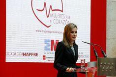 "Queen Letizia attended this morning the presentation of the ""Guía del corazón"""