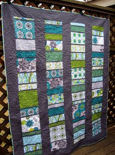 Modern Stained Glass Quilt
