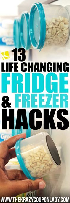Fridge & Freezer Hacks | There's a better way to organize your fridge and freezer. Give your food storage a makeover with these easy tips!