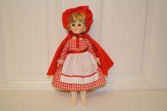 "1975/76 Effanbee 'Little Red Riding Hood' sleepy eye doll 11.5"". $17.50 blue eyes, blonde hair"