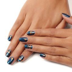 hey stud by essie - turn heads. catch eyes. leave them stunned in this flirty metallic nail design.