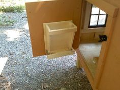 wall mounted chicken feeder