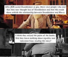 Honestly don't understand people that were pissed about Dumbledore being gay...
