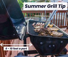 Nu uitați să mențineți grătarul la aproximativ 3-5 m distanță de casă sau gard. Dacă se apropie prea mult, s-ar putea topi partea din structură! Cheapest Insurance, Grilling, Summer, Summer Time, Crickets