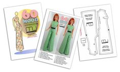 Marcelo Jacob apparel for Barbie Barbie Sewing Patterns, Doll Clothes Patterns, Sewing Patterns Free, Free Sewing, Sewing Clothes, Doll Patterns, Clothing Patterns, Free Pattern, Doll Clothes Barbie