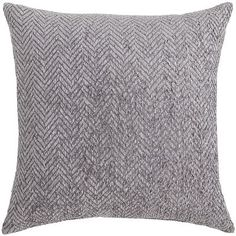 When it comes to color and texture, our pillow is rich. Ultra-soft chenille yarn is woven in a classically striking herringbone pattern. Let it stand alone to add a classic touch of gray to your room, or mix and match with our patterned pillows for a wealth of personality.
