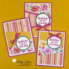 Beautiful Friendship Stamp Set & Flowers for Every Season Designer Series Paper by Stampin' Up! One Sheet Wonder, Bone Folder, Circle Punch, Fun Fold Cards, Glue Dots, Your Cards, Card Stock, Stampin Up, Vibrant Colors