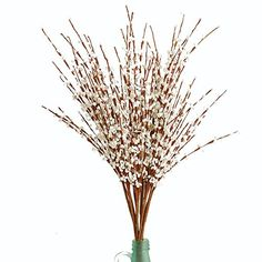 [ Winter Wedding Flowers ] JAROWN 10 pcs Artificial Winter Jasmine Flowers Fake Branches Leaves for Home Wedding Office Room Decoration (White) *** Want additional info? Click on the image. #WinterWeddingFlowers