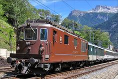 Swiss Railways, Electric Train, San Salvador, Rio Grande, Locomotive, Old School, Trains, Diesel, Vietnam