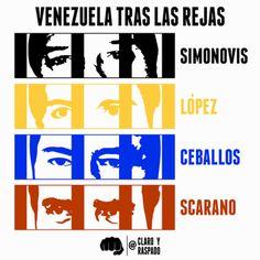 """""""#Venezuela trás las rejas"""" por @ClaroYRaspado http://shar.es/SCDyh #SOSVenezuela #Caricatura"""