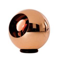 Lámpara de mesa velador Cupper en cobre (diám: 200mm)