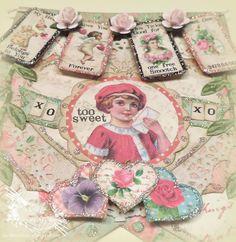 Heather A Hudson: Vintage Valentine's Day Banner Piece Tutorial