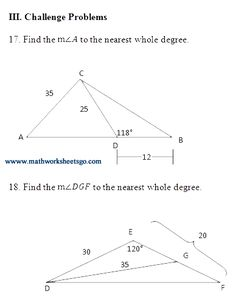 Law of Sines and Cosines Picture | Math12 | Pinterest | Worksheets ...