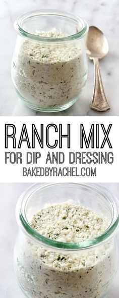 Easy homemade ranch seasoning mix for dip and dressing. Recipe from @bakedbyrachel