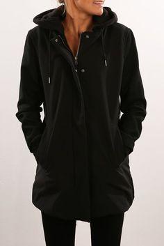 *JEAN JAIL - RVCA || 'Down Play' jacket, black | Chaqueta 'Down Play', negro