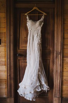 nude-colored form fitting wedding dress