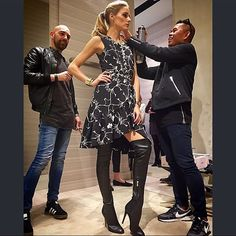 WEBSTA @ oliviapalermo - It was a fun beauty day with @ciatelondon @officialbrownthomas #OPmakeup @nelson_catarino_makeup we couldn't help striking a pose for @juliuspoole #notbadphotoskills